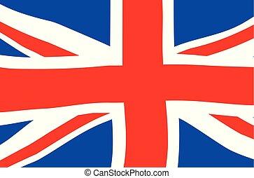 vlag, dommekracht, spotprent, unie