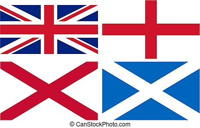 vlag, -, engeland, schotland, uk, ...