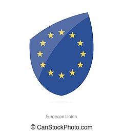 vlag, europeaan, union.