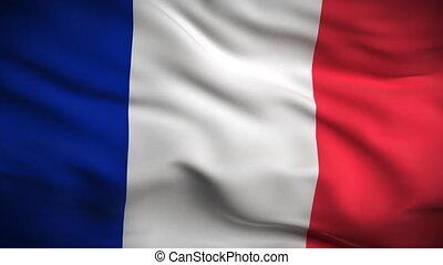 vlag, franse , looped., hd.