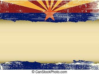 vlag, gekraste, horizontaal, arizona