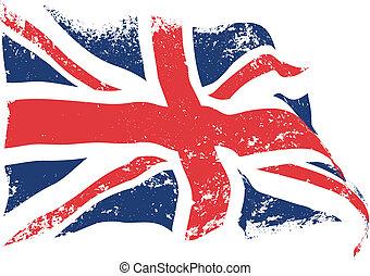 vlag, grunge, brits