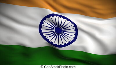 vlag, indiër, looped., hd.