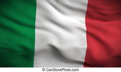 vlag, looped., hd., italiaanse