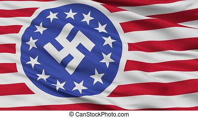 vlag, seamless, amerikaan, republiek, nieuw, closeup, lus