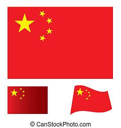 vlag, set, china