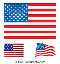 vlag, set, usa