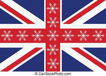 vlag, sneeuwvlok
