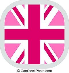 vlag, trots, plein, afgerond, lgbt