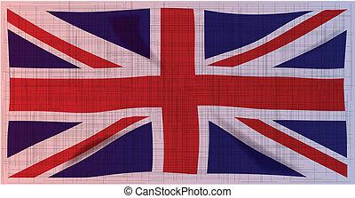 vlag, unie, grunge, dommekracht