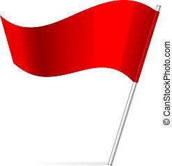 vlag, vector, illustratie