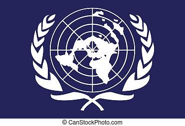 vlag, verenigde naties