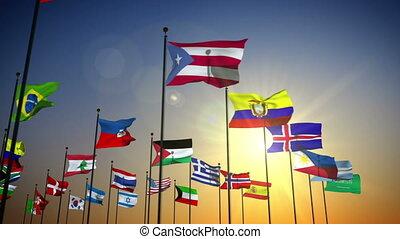 vlaggen, naties