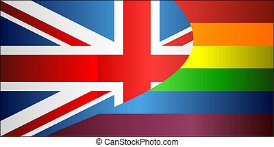 vlaggen, verenigd, vrolijk, grunge, koninkrijk