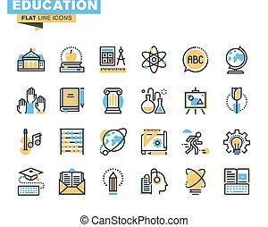 vlake lijn, opleiding, iconen