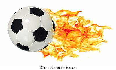 vlammen, bal, voetbal