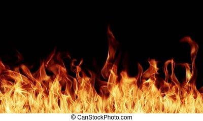 vlammen, resolutie, achtergrond, brandend, hoog, black