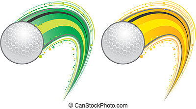 vliegen, golf bal