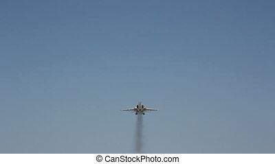vliegen, straalvliegtuig, c, schaaf, bovengronds, militair
