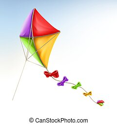 vlieger, vector, 3d, pictogram