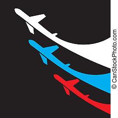 vliegtuigen, fl, rusland, achtergrond