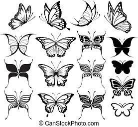 vlinder, clipart