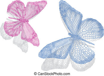 vlinder, schaduw