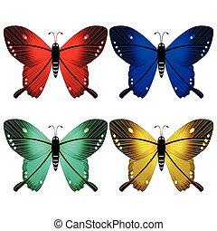 vlinder, witte , tegen