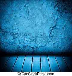 vloer, muur, beton, hout, achtergrond, textured