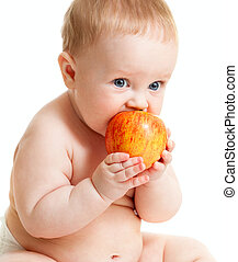 voedingsmiddelen, baby jongen, eten, gezonde