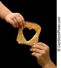 voedingsmiddelen, behoeftig, delen