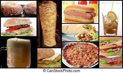 voedingsmiddelen, collage, vasten