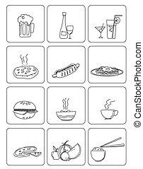 voedingsmiddelen, &, dranken