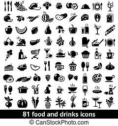 voedingsmiddelen, dranken, iconen