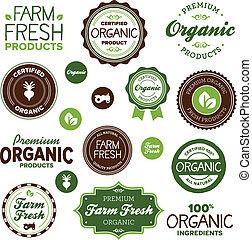 voedingsmiddelen, etiketten, organisch