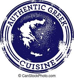 voedingsmiddelen, griekse , classieke, authentiek, postzegel