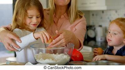 voedingsmiddelen, keuken, het bereiden, gezin, 4k