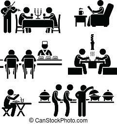 voedingsmiddelen, koffiehuis, drank, restaurant