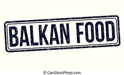 voedingsmiddelen, rubber, balkan, grunge, postzegel