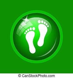 voet printen, pictogram