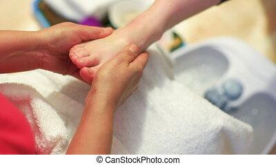 voet, thai, studio, masseren