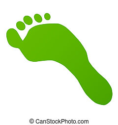 voetafdruk, groene