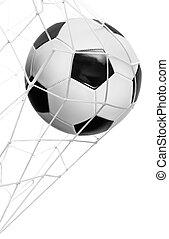 voetbal doel, bal, vrijstaand