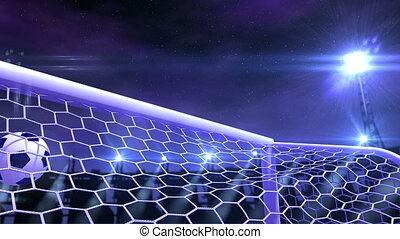 voetbal, doel, fluing