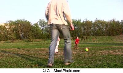 voetbal, gezin