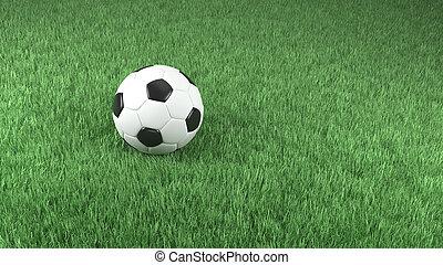voetbal, gras, groene