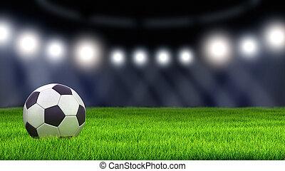 voetbal, gras, voetbal