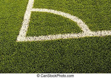voetbal, grass., textuur, groen veld