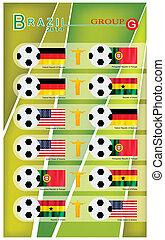 voetbal, groep, g, toernooi
