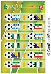 voetbal, groep, toernooi, f
